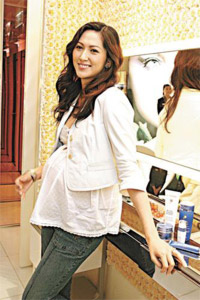 attrice cinese incinta