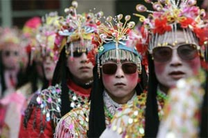 maschere in Cina