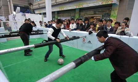 calcio balilla in Cina