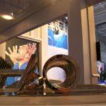 """Alfio Mongelli rappresenta l'arte italiana alle Olimpiadi 2008 con la scultura monumentale """"H2O"""" installata al Parco Olimpico di Pechino"""