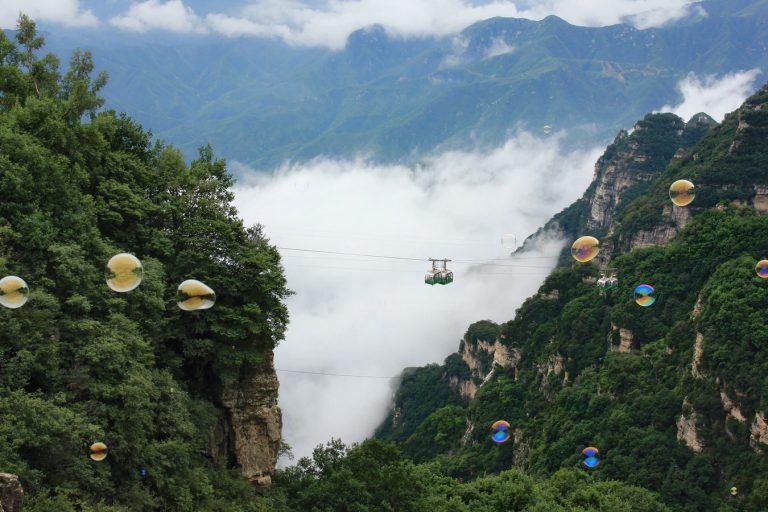 Montagna Baishi,-Hebei,-Cina-immagini