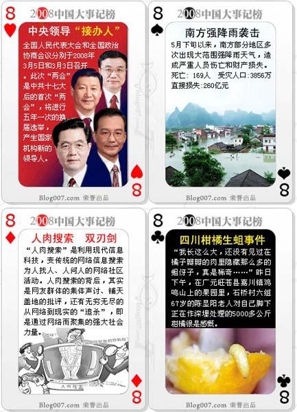008---anno in carte da gioco