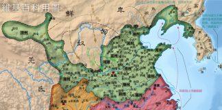 il periodo dei tre regni cartina