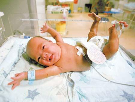 Neonata sottopeso dimessa