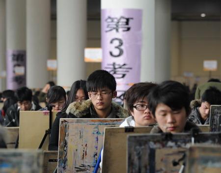 Esame d'ingresso per l'Accademia d'arte in Cina