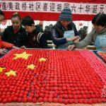 Ravioli dolci per la bandiera cinese