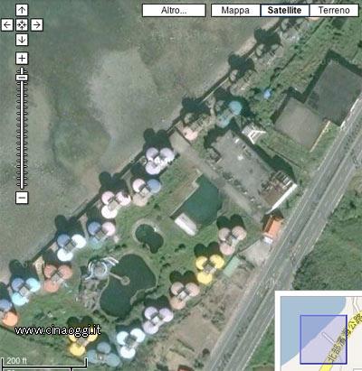satellite-sanzhi-Il villaggio fantasma di Sanjhih
