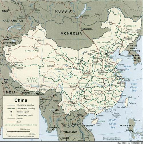 La Cina Cartina Politica.Cartine E Mappe Della Cina Hong Kong Taiwan E Macao