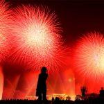 I giochi pirotecnici alla cerimonia di apertura di Shanghai Expo 2010