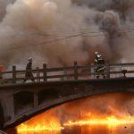 Nube e incendio tossico a Wuxi