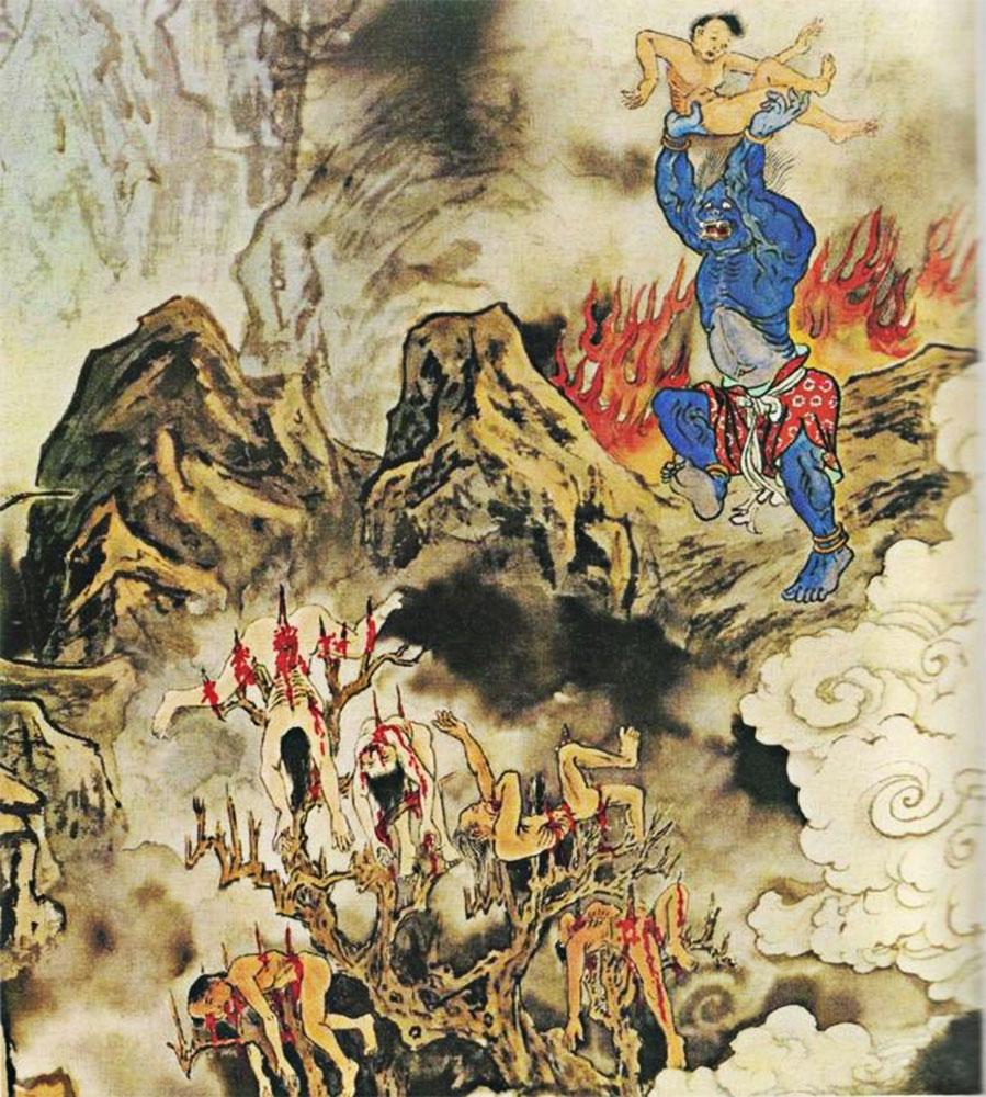 La camera delle cicadee di ferro inferno cinese