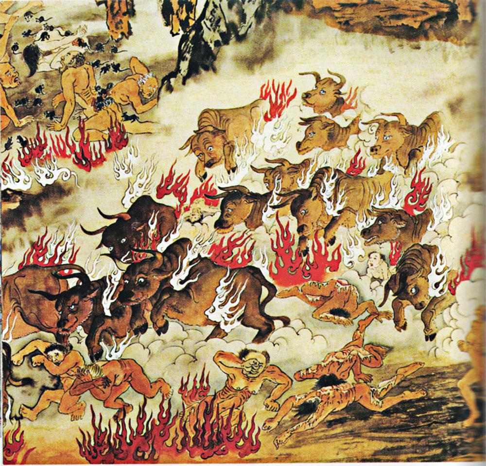 La camera dei bufali inferno cinese