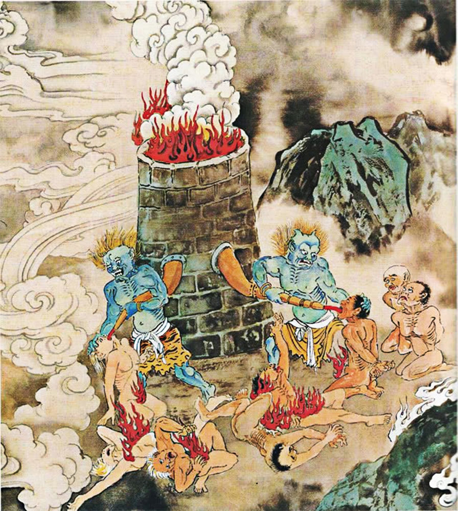 La camera del torchio inferno cinese
