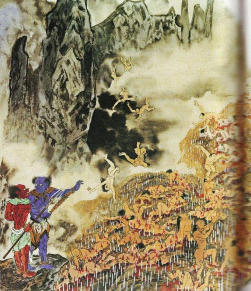 La montagna dei coltelli inferno cinese