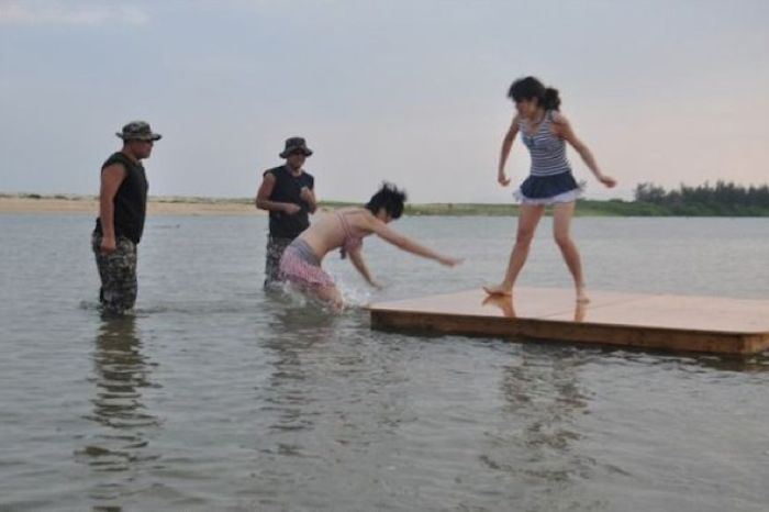 modelle cinesi guardie del corpo