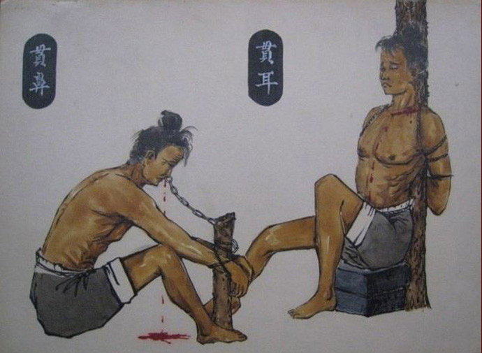 antiche torture dipinti