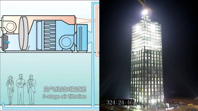 Incredibile timelapse di un grattacielo costruito in 15 giorni