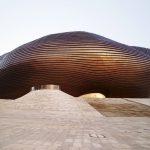 Un museo fantascientifico vuoto nella città fantasma di Ordos