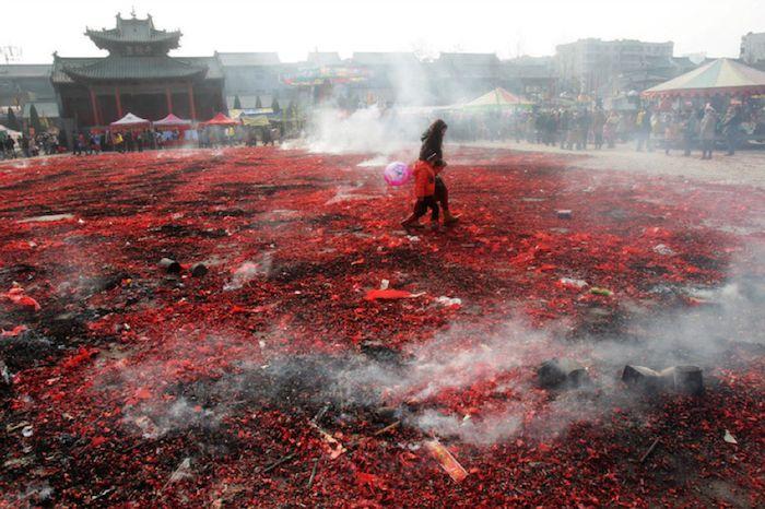 fuochi d'artificio cinesi immagini