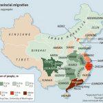 La cartina dei flussi migratori in Cina