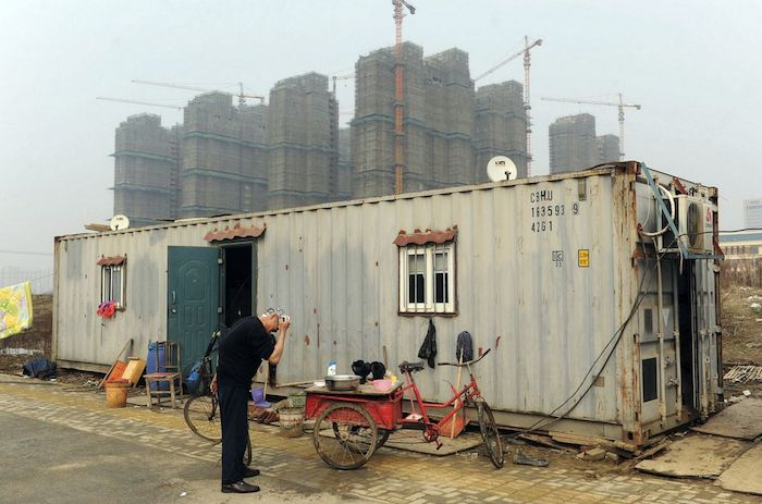 case container per i migranti in Cina
