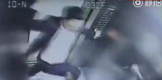 uomo che picchia una donna