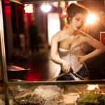 46 immagini di modelle al barbecue cinese