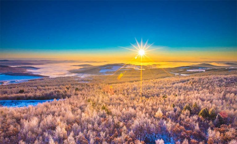 I paesaggi incantati della foresta di Dahinggan