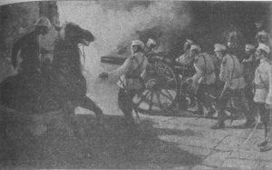 Soldati russi il 14 agosto.