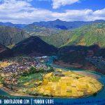 Taiji, un antico villaggio cinese a forma del simbolo dello Yin e Yang