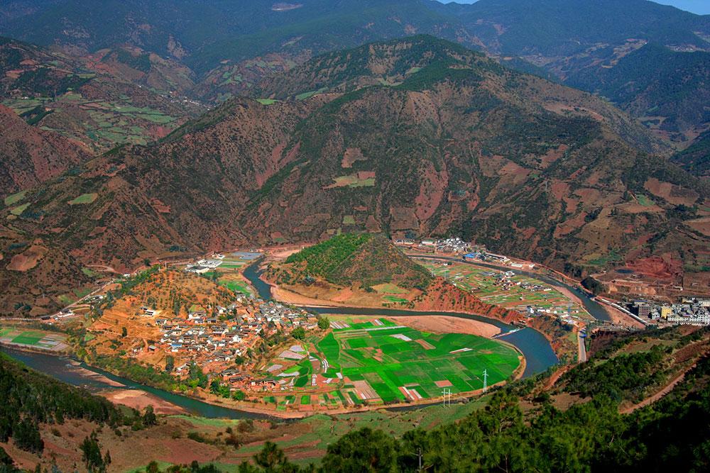 Il villaggio di pescatori di Taiji, Nuodeng, Dali, Yunnan