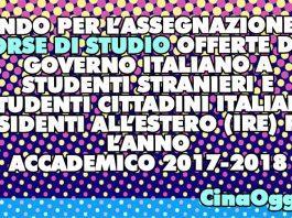 borse di studio per italiani all'estero