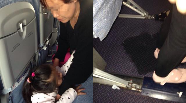fare la pipi in aereo