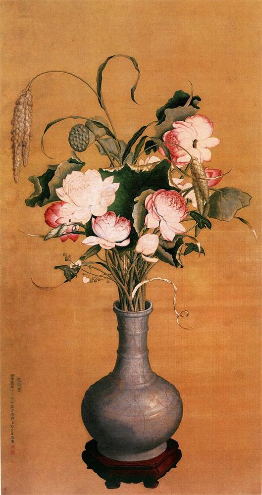 Giuseppe Castiglione-vaso di fiori
