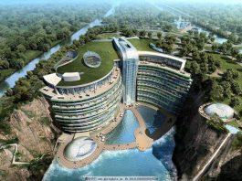 Tianma Pit Hotel- uno splendido hotel costruito in una cava a Shanghai