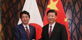 Shinzo Abe-Xi Jinping-Cina-Giappone