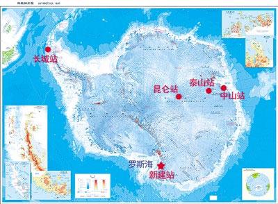 mappa delle basi cinesi in Antartide