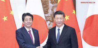 xi jinping-shinzo abe-relazioni Cina Giappone