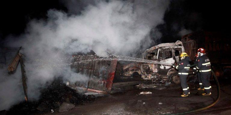 esplosione in un impianto chimico in Cina