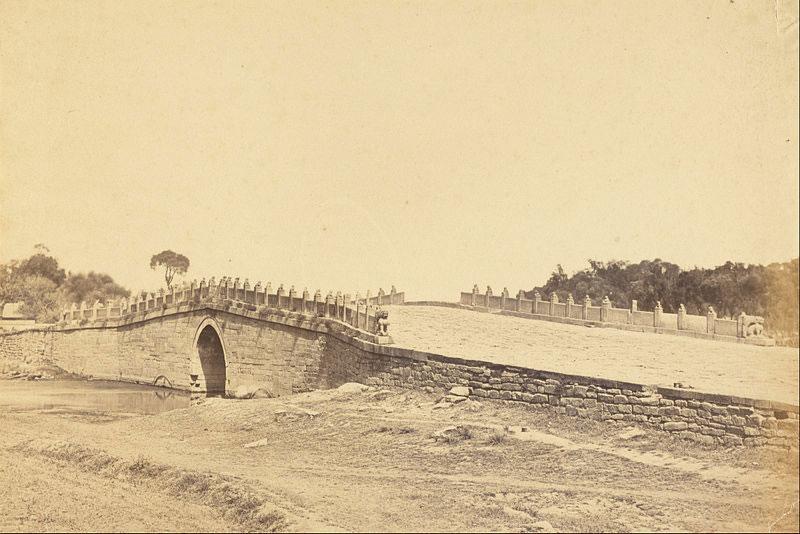 Il ponte di Pa li k'um, Scena di combattimento con le truppe imperiali cinesi, 21 settembre 1860, vicino a Pechino