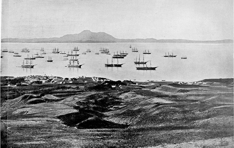 Accampamento britannico nella baia di Talien