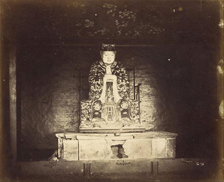 Una statua di Confucio a Canton