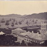 La flotta anglo francese si raggruppa a Hong Kong prima dell'assalto a Pechino, marzo 1860