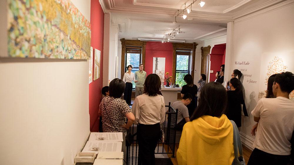 Ricevimento d'apertura con Michael Eade - Foto di Nadia PeichaoLin, Immagine cortesemente concesse da Fou Gallery