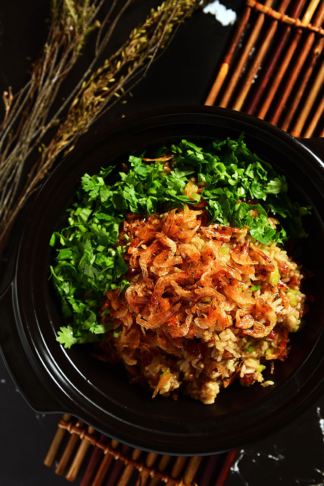 Fried-Sticky-Rice-with-Sakura-Dried-Shrimp
