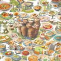 cibo cinese illustrazione