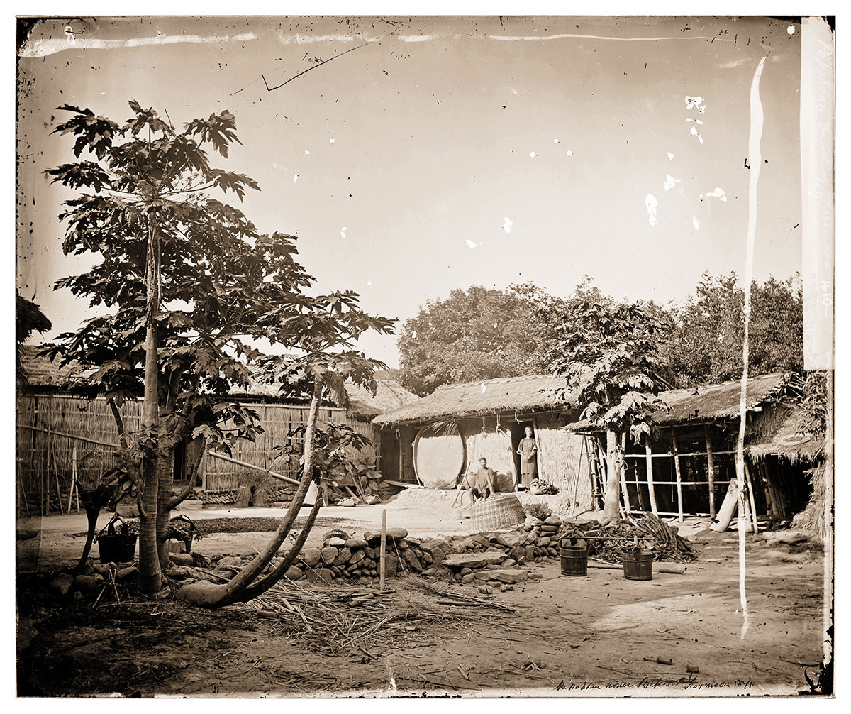 Capanne a Formosa dei nativi Pepohoan. Thomson, 1871