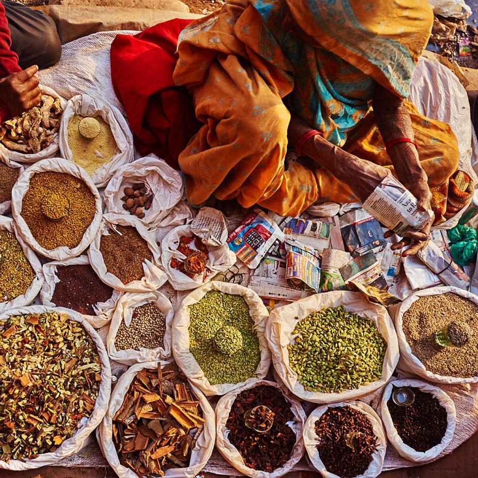 cibo indiano mercato delhi