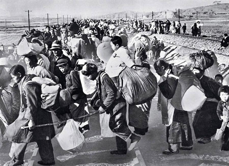 cittadini coreani in fuga