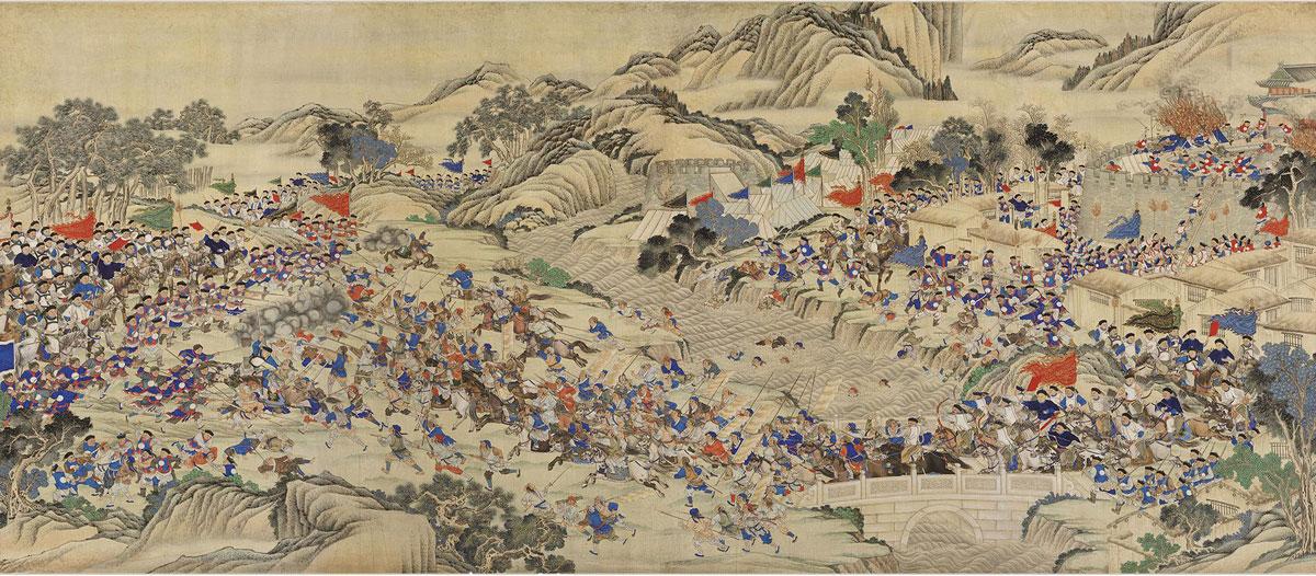 Una scena della ribellione dei Taiping